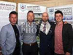 Rory Kerr, Dean Byrne, Olan Flanagan and Chris Kerr at the Drogheda Boys Anniversary Dinner.<br /> <br /> Photo: Jenny Matthews