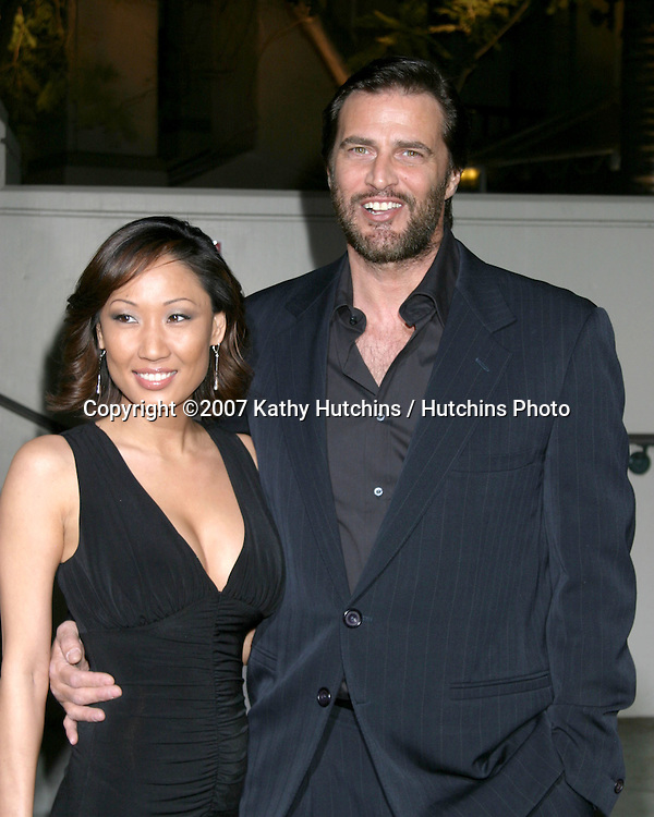 John Enos & wife.Rodeo Walk of Style Award IHO  Gianni & Donatella Versace.City Hall, Beverly Hills, CA.February 8, 2007.©2007 Kathy Hutchins / Hutchins Photo.