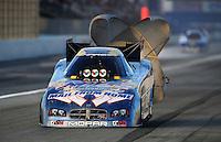 Nov 13, 2010; Pomona, CA, USA; NHRA funny car driver Jack Beckman during qualifying for the Auto Club Finals at Auto Club Raceway at Pomona. Mandatory Credit: Mark J. Rebilas-