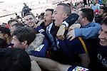 FC Barcelona's coach Luis Enrique Martinez celebrates with his players the victory in La Liga 2015/2016. May 14,2016. (ALTERPHOTOS/Acero)