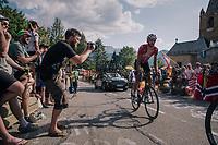 """Jelle Vanendert (BEL/Lotto-Soudal) coming through """"Dutch Corner"""" (#7) on Alpe d'Huez<br /> <br /> Stage 12: Bourg-Saint-Maurice / Les Arcs > Alpe d'Huez (175km)<br /> <br /> 105th Tour de France 2018<br /> ©kramon"""