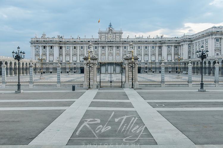 Spain, Madrid, Royal Palace (Palacio Real de Madrid) Gate