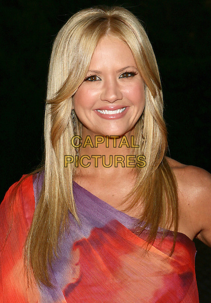 NANCY O'DELL.11th Annual DesignCare event benefiting the HollyRod Foundation held at a Private Residence, Beverly Hills, CA, USA..July 25th, 2009.headshot portrait purple one shoulder mini sheer red print floral poppy .CAP/ADM/TL.©Tony Lowe/AdMedia/Capital Pictures.