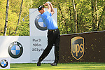 Anders Hansen teeing off from the 3rd.during round three of the BMW PGA championship 2010 at Wentworth golf club, Surrey England..Picture Fran Caffrey/Newsfile.ie