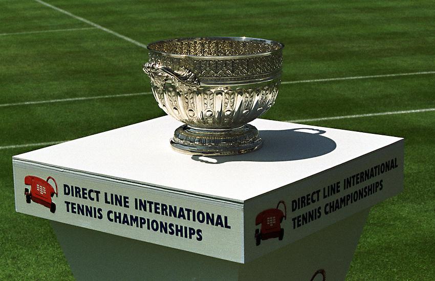 Photo. Richard Lane. .International Ladies Tennis, Eastbourne. 19/6/99..The Direct Line International Tennis Championships Singles Final Trophy.