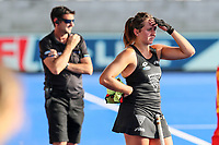 Sean Dancer (L) and Olivia Shannon. Pro League Hockey, Vantage Blacksticks Women v China. Nga Puna Wai Hockey Stadium, Christchurch, New Zealand. Sunday 17th February 2019. Photo: Simon Watts/Hockey NZ