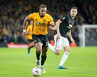 4th January 2020; Molineux Stadium, Wolverhampton, West Midlands, England; English FA Cup Football, Wolverhampton Wanderers versus Manchester United; Adama Traore of Wolverhampton Wanderers with the ball at his feet running away from Nemanja Matic of Manchester United  - Strictly Editorial Use Only. No use with unauthorized audio, video, data, fixture lists, club/league logos or 'live' services. Online in-match use limited to 120 images, no video emulation. No use in betting, games or single club/league/player publications