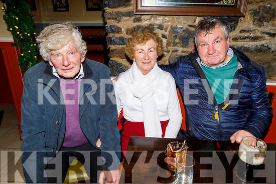 Joe Dunne, Sheila and John O'Donoghue enjoying the evening in the Brogue Inn on Saturday.
