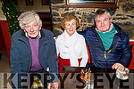 Joe Dunne, Sheila and John O'Donoghue enjoying the evening in the Brogue Inn on Saturday.