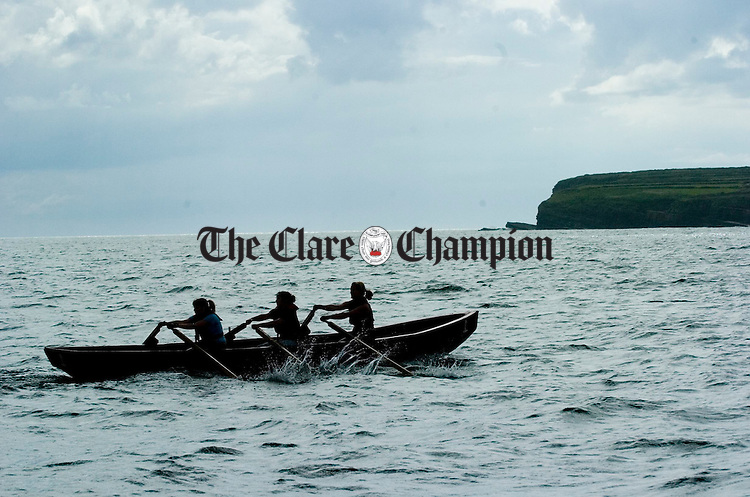 Currach racing as part of the Loop Head Gathering Festival. Photograph by John Kelly.