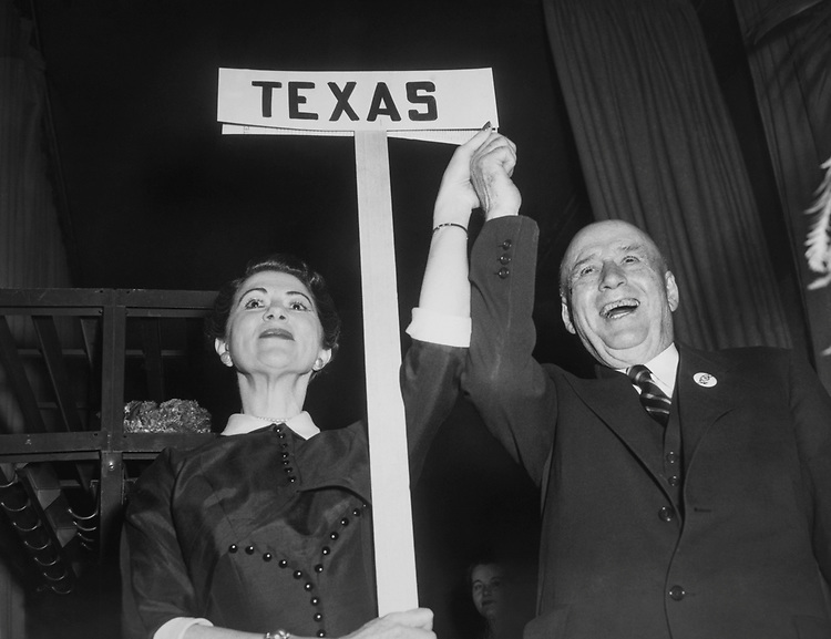 Rep. Sam Rayburn, D-Tex., at an election event. (Photo by CQ Roll Call)