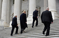 United States President Donald J. Trump and US Vice President Mike Pence arrive at the US Capitol to attend the Senate Republican policy luncheon January 9, 2019 in Washington, DC. <br /> Credit: Olivier Douliery / Pool via CNP /MediaPunch