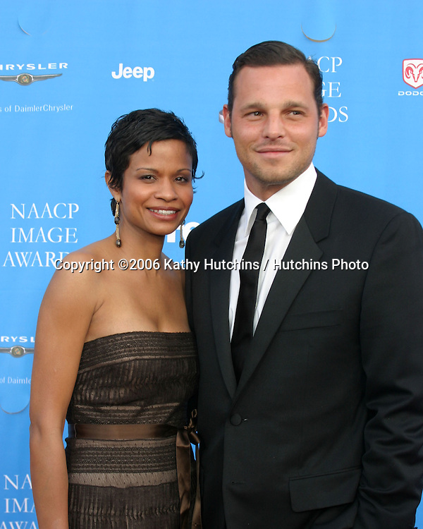 Justin Chambers and wife.37th NAACP Image Awards.Shrine Auditorium.Los Angeles, CA.February 25, 2006.©2006 Kathy Hutchins / Hutchins Photo....