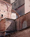 Hagia Sophia Walls 02 - Hagia Sophia (Aya Sofya) basilica, Sultanahmet, Istanbul, Turkey