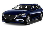 2019 Mazda Mazda6 Skycrusie 5 Door Wagon Angular Front stock photos of front three quarter view