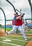 22 February 2013: Washington Nationals' outfielder Bryce Harper takes batting practice during a full squad Spring Training workout at Space Coast Stadium in Viera, Florida. Mandatory Credit: Ed Wolfstein Photo *** RAW File Available ***