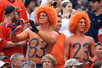 Virginia fans during the first half of the game in Charlottesville, Va. Virginia defeated Brigham Young 19-16. Photo/Andrew Shurtleff