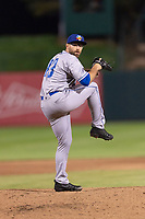 Amarillo Sod Poodles relief pitcher Paco Rodriguez (43) during a Texas League game against the Springfield Cardinals on April 25, 2019 at Hammons Field in Springfield, Missouri. Springfield defeated Amarillo 8-0. (Zachary Lucy/Four Seam Images)