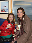 Aisling and Tara McNally pictured at the Mulled Wine fundraiser in Clogherhead Lifeboat Station. Photo:Colin Bell/pressphotos.ie