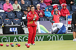 Glasgow 2014 Commonwealth Games<br /> <br /> Caroline Taylor (Wales) competing in the lawn bowls women's pairs.<br /> <br /> 30.07.14<br /> &copy;Steve Pope-SPORTINGWALES