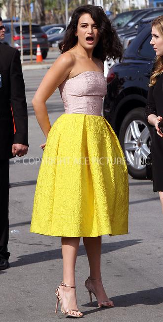 WWW.ACEPIXS.COM<br /> <br /> February 21 2015, Los Angeles CA<br /> <br /> Actress Jenny Slate arriving at the 2015 Film Independent Spirit Awards at Santa Monica Beach on February 21, 2015 in Santa Monica, California.<br /> <br /> <br /> Please byline: Nancy Rivera/ACE Pictures<br /> <br /> ACE Pictures, Inc.<br /> www.acepixs.com, Email: info@acepixs.com<br /> Tel: 646 769 0430