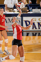 20 November 2008:  WKU middle hitter Brittany Bowen (8) returns the ball during the WKU 3-0 victory over Denver in the first round of the Sun Belt Conference Championship tournament at FIU Stadium in Miami, Florida.