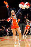 Virginia Cavaliers cheerleaders during the game against Florida State Jan. 29, 2012 in Charlottesville, Va.  Virginia defeated Florida State 62-52.