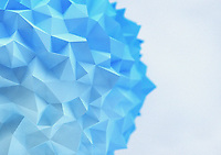 Abstract low poly blue sphere