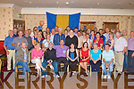 NIFTY FIFTY: Billy O'Connor, Killarney Road, Castleisland (seated centre) celebrates his 50th birthday with his family, friends and collegues from the Castleisland fire brigade in the Crown Hotel, Castleisland on Friday night.