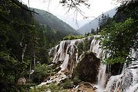 Waterfalls in the Jiuzhaigou National Park. Sichuan Province. China.