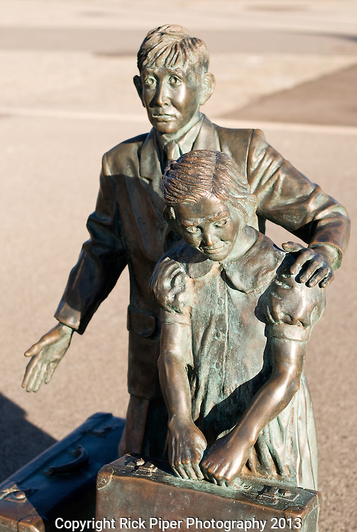 "Bronze Immigrants - ""Monument To The Immigrants"", bronze statues of child migrants, Victoria Quay, Fremantle, Western Australia"