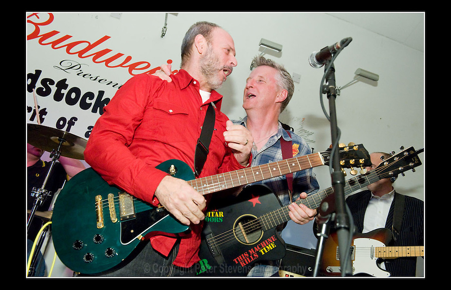 Wayne Kramer and Billy Bragg at the Jail Guitar Doors premiere of the film 'Breaking Rocks' held at the The Proud Gallery, Camden on the 1st October 2009.