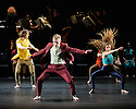 "London, UK. 06.04.2016. National Youth Dance Company in dress rehearsal for the premiere of ""In-Nocentes"" at Sadler's Wells. Choreographed by Michael Keegan-Dolan, Artistic Director for NYDC for 2015 - 2016, with lighting design by Peter Harrison, set and costume design by Laura Hopkins. NYDC is touring the work from 26 June – 23 July 2016. The dancers are: Monique Ademilola, Jasmine Bayes, Tomas Brennan, Jamie Buchanan, Arthur Clayton, Isis Clunie, Olivia Doyle, Lucia Fortune-Ely, Christian Griffin, Bar Groisman, Rachael Harrison, Alex Henderson, Amie Hibbert, Christopher Hicks, Tommy Hodgkins, Noga Inspector, Taitlyn Jaiyeola, Kaylee Jaiyeola, Ethan Joseph, Niamh Keeling, Rose Lewis, Blue Makwana, Dominic McAinsh, Iona McGuire, Kennedy Muntanga, Daniel Nattrass, Jessica Nixon, Jasmine Norton, Ethan Nott, Chris Pilbeam, David Prempeh, Jackson Shallcross-Platt, Kia Skilbeck, Ben Todd-Jones, Tre Usoro-Williams, Chad Wakefield, Molly Walker, John-William Watson, George Williams, Hallam Wood. Photograph © Jane Hobson"