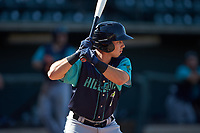 Jodd Carter (7) of the Lynchburg Hillcats at bat against the Winston-Salem Rayados at BB&T Ballpark on June 23, 2019 in Winston-Salem, North Carolina. The Hillcats defeated the Rayados 12-9 in 11 innings. (Brian Westerholt/Four Seam Images)