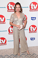 LONDON, UK. September 10, 2018: Zoe Tapper at the TV Choice Awards 2018 at the Dorchester Hotel, London.<br /> Picture: Steve Vas/Featureflash