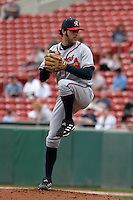 Richmond Braves Anthony Lerew during an International League game at Dunn Tire Park on April 21, 2006 in Buffalo, New York.  (Mike Janes/Four Seam Images)