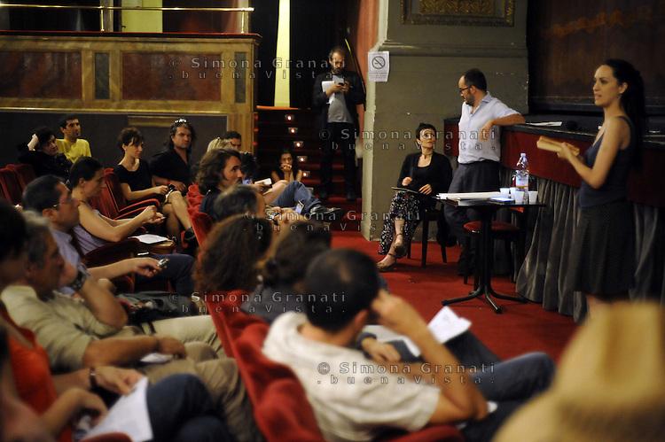 Roma 25 Giugno 2011.Teatro Valle occupato.Assemblea