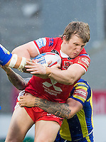 Picture by Allan McKenzie/SWpix.com - 04/03/2017 - Rugby League - Betfred Super League - Salford Red Devils v Warrington Wolves - AJ Bell Stadium, Salford, England - Logan Tomkins.