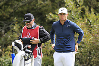Lucas Bjerregaard (DEN) and caddy Bo on the 8th tee during Sunday's Final Round of the 2017 Omega European Masters held at Golf Club Crans-Sur-Sierre, Crans Montana, Switzerland. 10th September 2017.<br /> Picture: Eoin Clarke | Golffile<br /> <br /> <br /> All photos usage must carry mandatory copyright credit (&copy; Golffile | Eoin Clarke)