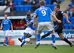 St Johnstone v Inverness Caledonian Thistle...05.10.13      SPFL<br /> Nigel Hasselbaink's shot is saved <br /> Picture by Graeme Hart.<br /> Copyright Perthshire Picture Agency<br /> Tel: 01738 623350  Mobile: 07990 594431