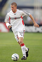 D.C. United's Joshua Gros. The New England Revolution and D.C. United finished in a scoreless tie in MLS play at Gillette Stadium, Foxboro, MA on Saturday August 28, 2004.