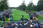 Ryder Cup 206 K Club, Straffan, Ireland..American Ryder Cup team player Phil Mickelson tees off from the 1st tee during  the  morning fourballs session of the second day of the 2006 Ryder Cup at the K Club in Straffan, Co Kildare, in the Republic of Ireland, 23 September 2006...Photo: Eoin Clarke/ Newsfile.