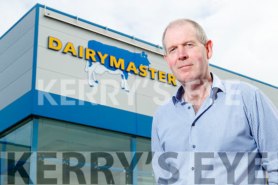 Stephen Pierce (Production Manager), Dairymaster pictured at the tour on Sunday last.