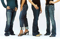 "Demin Jeans Illustration..From left to right; AG Adriano Goldschmied Jeans from Vie Boutique, Citizens of Humanity from Garys', Wrangler 47 from Frank James, and Vigoss Studio from Frank James.   With a renewed popularity in the skinny-legged jeans style, many women are frustrated with a style that doesnít look go on most body types.  The article found jeans from local boutiques that turn away from the skinny jeans styles with boot leg cuts, flare legs and other style that can look good on everyone...092606 jeans01 NJD .****LIFESTYLE*****.-LEAD PHOTO-.BELLINGHAM HERALD PHOTO BY NIKI DESAUTELS.DATE TAKEN:  092606..NOTES:  --- THIS IMAGE HAS BEEN TONED AND CROPPED BY THE PHOTOGRAPHER---Rabbi Levi Backman plays with his son Meir Backman, 1, in the living room of their house in Fairhaven on Thursday, December 14, 2006.  Nearby sit the toy dreidels that Levi and his wife, Hadassah Backman, have used to introduce Meir to the Chanukah Holiday.  ""You have to introduce the holiday in ways they can understand,"" said Hadassah. ""The bright colors and the dreidel, that ís how he will make the connection to the holiday.""   ""This way he is a part of the holiday,"" said Hadassah. ""It's not just going on around him.""..DATE TAKEN: 071406..Joel, 7, and his grandfather Harold Christensen (left) celebrate after their ball hits the pins as Martin George, 9, and Beckie Postlewait (right) listen closely to hear the sound of the bowling ball rolling down the lane during an bowling trip to Robinhood Lanes with the kids Louis Braille camp in Edmonds.  Joel and Martin are both visually impaired but can enjoy activities like this with help from volunteers and relatives.  The camp choose to take the kids bowling because even without sight they can feel the vibrations of the ball on the lane and hear the path of the bowling ball and the collision into the pins."