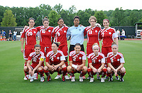 Canadian Women's National Team Starting Eleven. The Canadian National Team tied The Washington Freedom 3-3 in an exhibition match at George Mason University ,Sunday May 23, 2010.