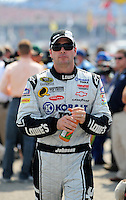 Oct 4, 2008; Talladega, AL, USA; NASCAR Sprint Cup Series driver Jimmie Johnson during qualifying for the Amp Energy 500 at the Talladega Superspeedway. Mandatory Credit: Mark J. Rebilas-