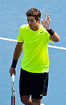 Juan Martin Del Potro of Argentina at the Western & Southern Open in Mason, OH on August 17, 2012.