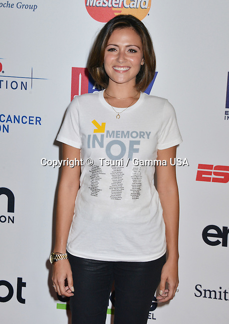 Italia Ricci  at the  Stand Uo To Cancer 2014 at the Dolby Theatre in Los Angeles.