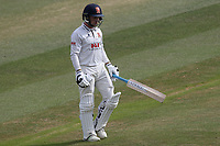Adam Wheater of Essex leaves the field having been dismissed for 20 during Essex CCC vs Somerset CCC, Specsavers County Championship Division 1 Cricket at The Cloudfm County Ground on 28th June 2018