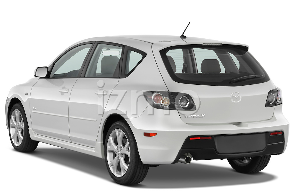 Rear three quarter view of a 2009 Mazda3 5-Door Sport